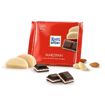 CHOCOLATE RITTER SPORT MARZIPAN 100 GR