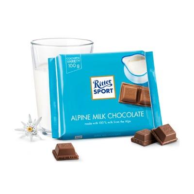 RITTER SPORT CHOCOLATE CON LECHE 100 GR