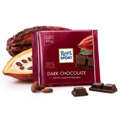 RITTER SPORT CHOCOLATE AMARGO 100 GR