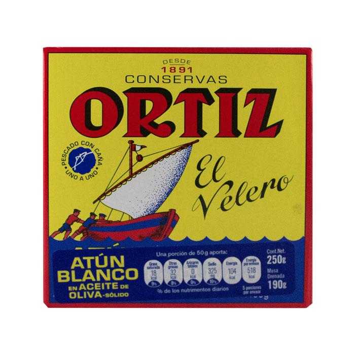 LATA ORTIZ ATUN BLANCO EN ACEITE DE OLIVA 250 GR