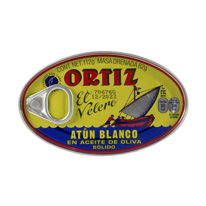 LATA ORTIZ ATUN BLANCO EN ACEITE DE OLIVA 112 GR