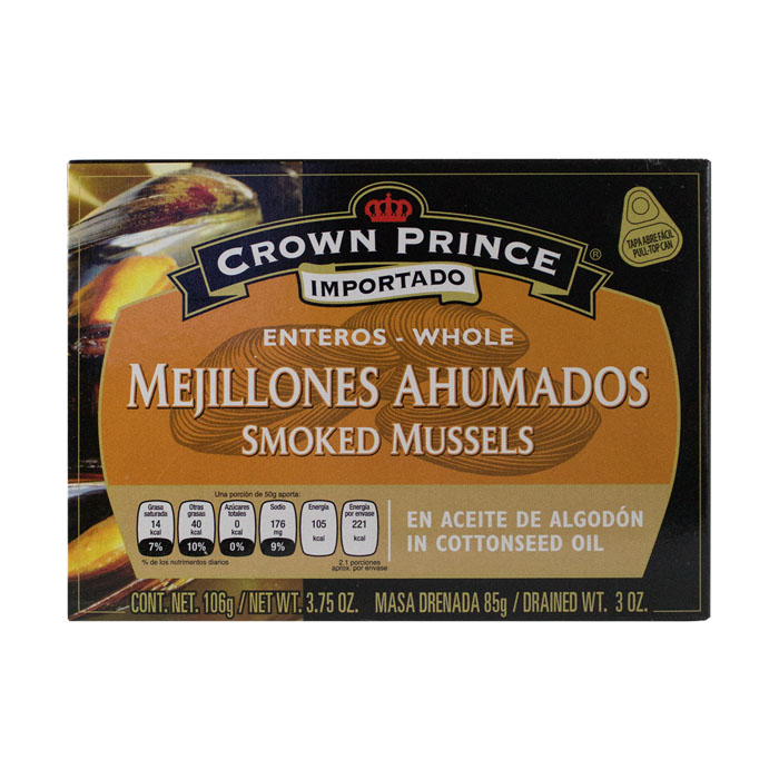 LATA CROWN PRINCE MEJILLONES AHUMADOS 106 GR