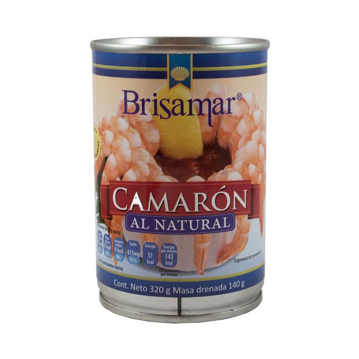 LATA BRISAMAR CAMARON AL NATURAL 320 GR