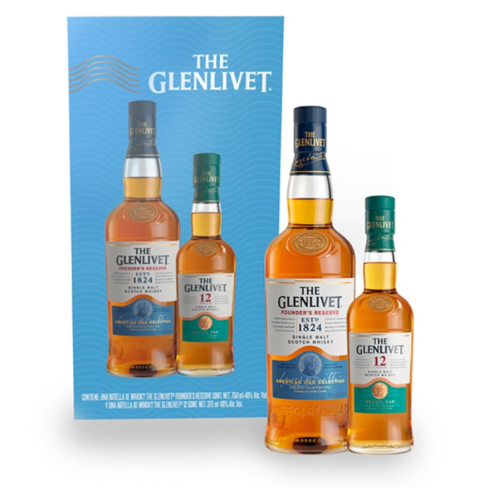 VAP GLENLIVET FR 750 ML + GLENLIVET 12 375 ML