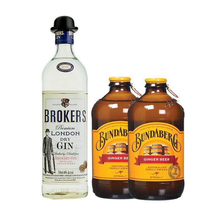 COMBO BROKER'S+ 2 BUNDABERG GINGER BEER