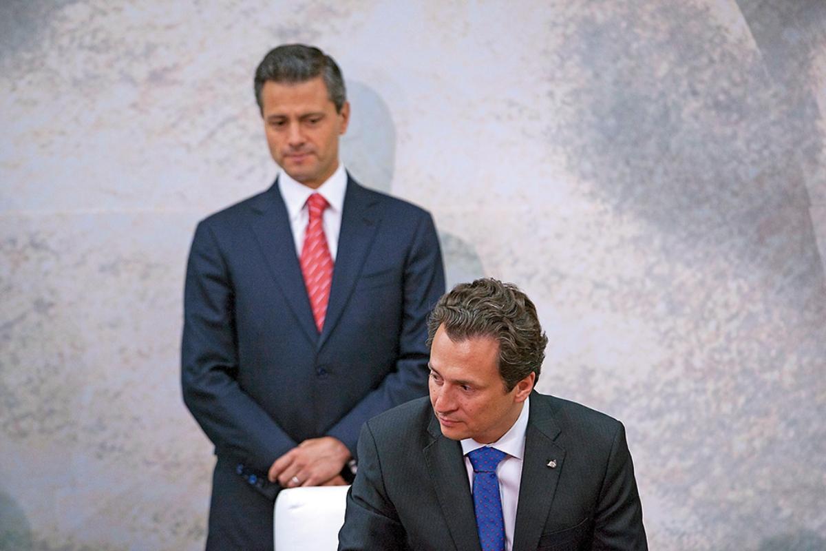 Enrique Peña Nieto, expresidente de México y Emilio Lozoya, ex titular de Pemex