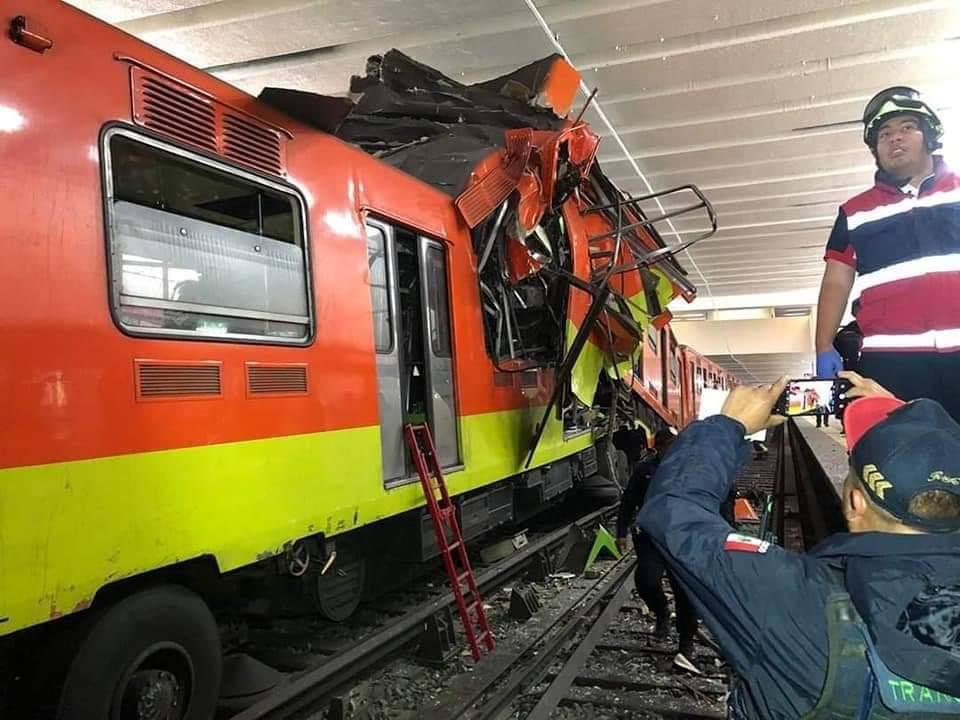 choque de trenes de Metro