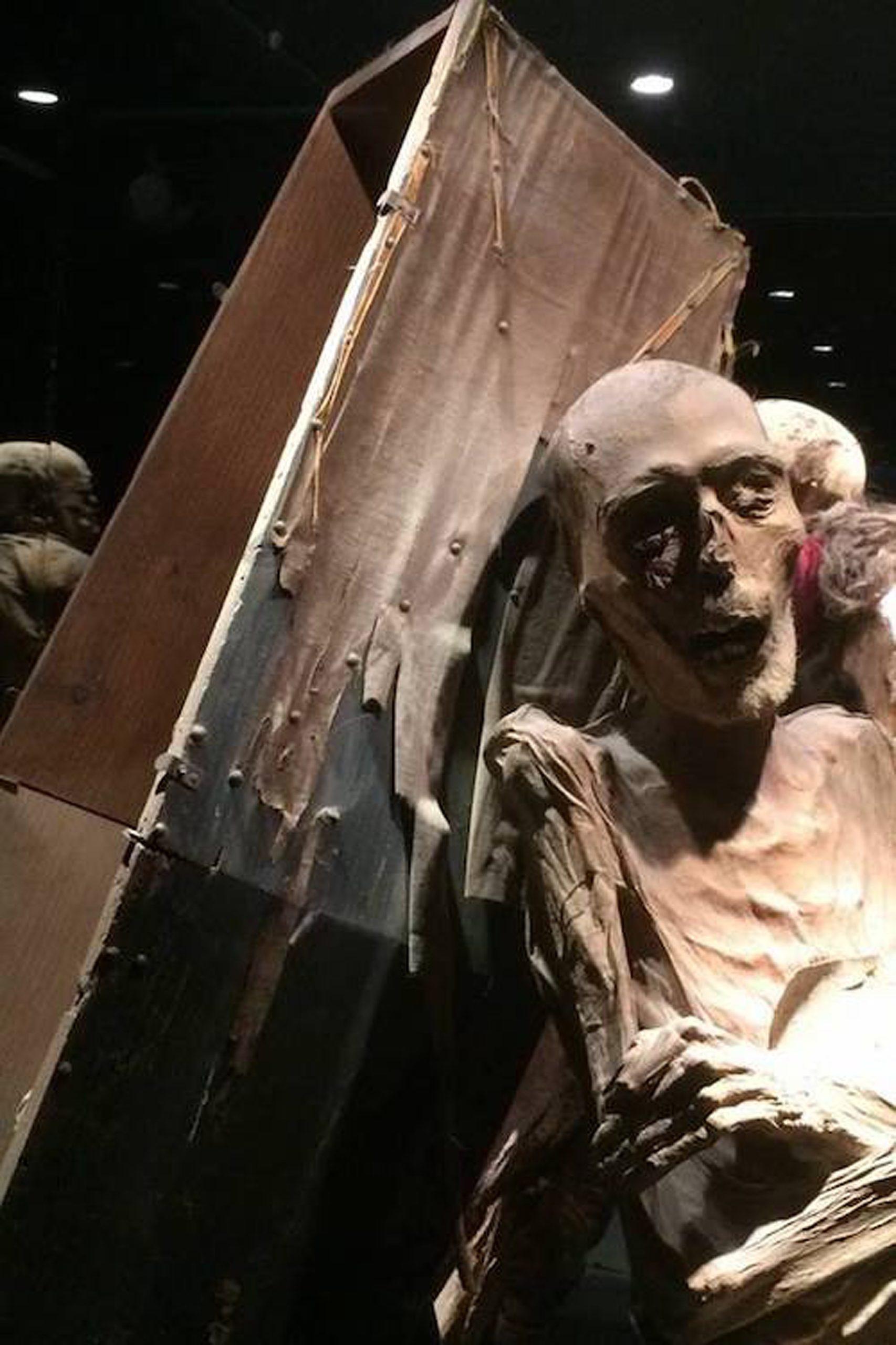 Otra de las momias del museo con su caja. /Foto cedida por el museo