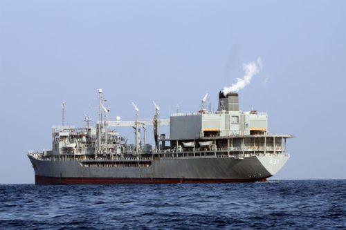 Buque militar iraní Jark, uno de los más grandes de la Armada persa