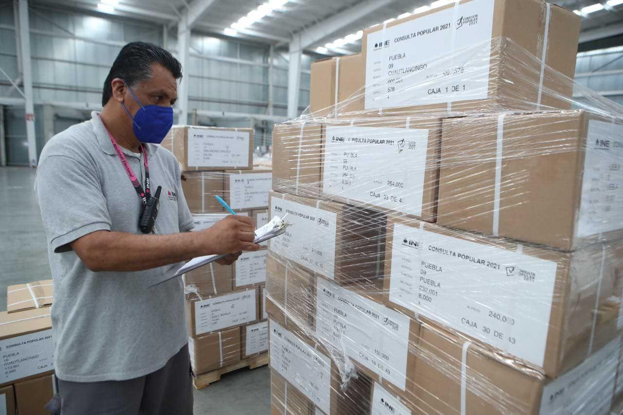 A partir de hoy se realizó el inicio de la distribución de papeletas, documentos y material para la Consulta Popular del próximo 1 de agosto