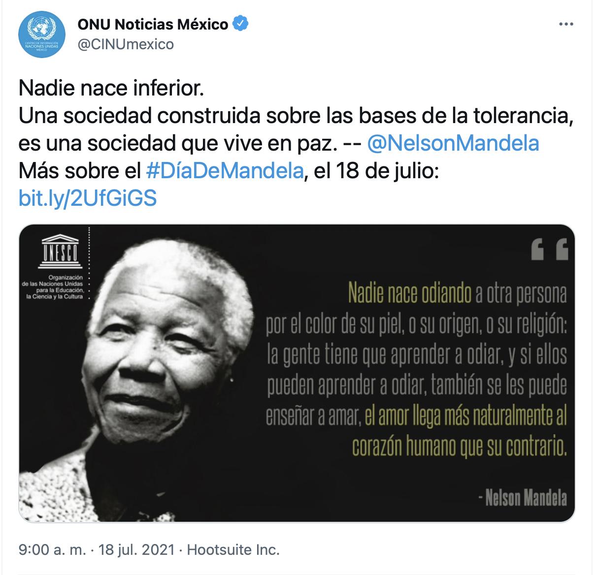 nelson Mandela aniversario