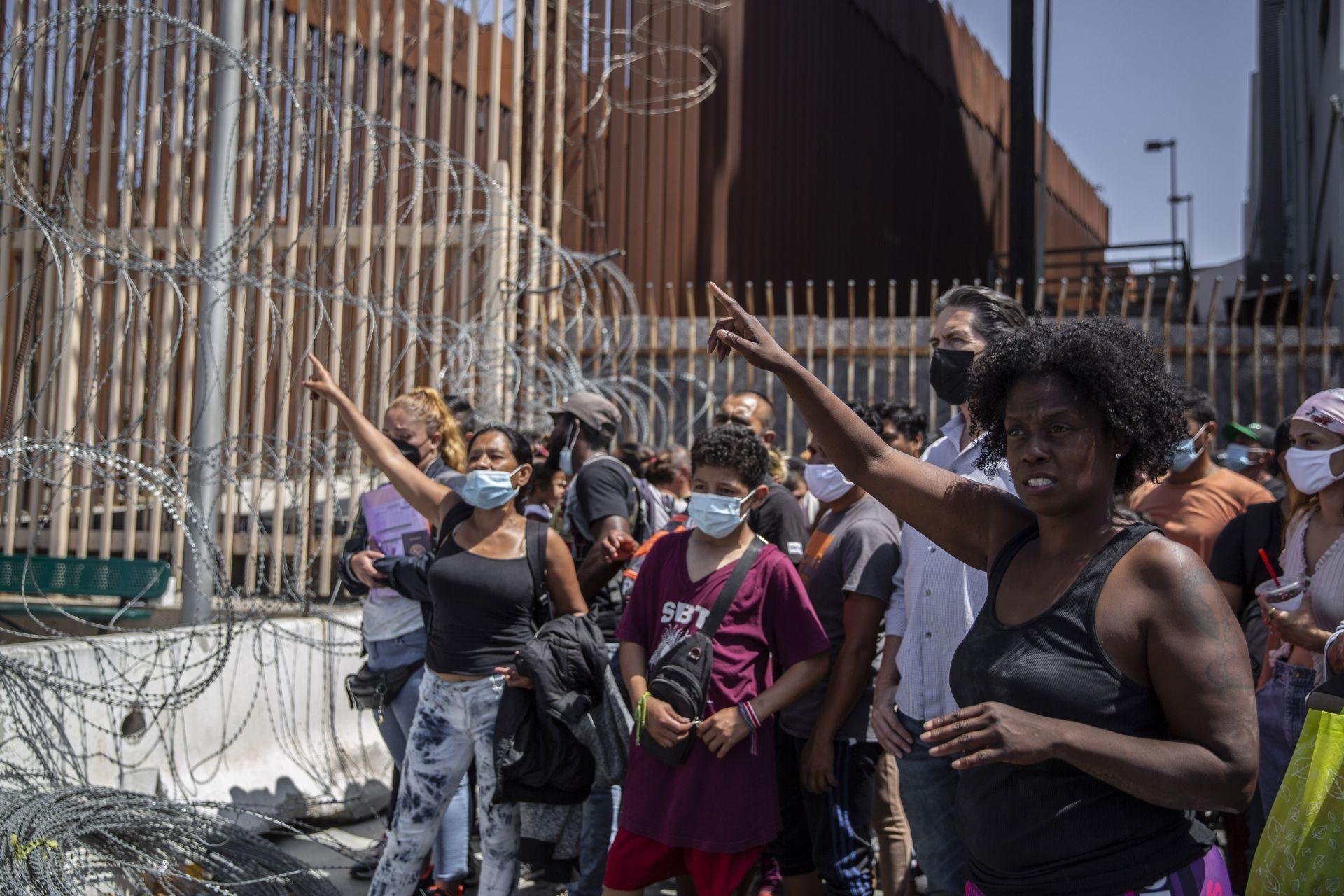 Manifestación de migrantes/Foto: cuartoscuro
