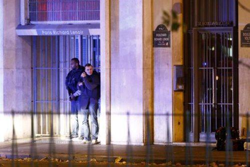 Policía el día de los atentados terroristas en París