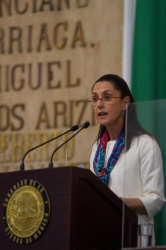 Claudia Sheinbaum durante el tercer informe de gobierno