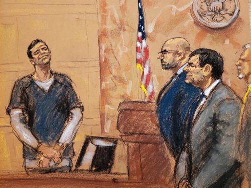 el Chapo Guzmán en un tribunal de EU
