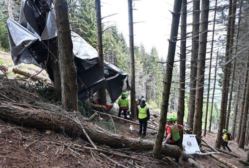 Accidente de teleférico en Italia