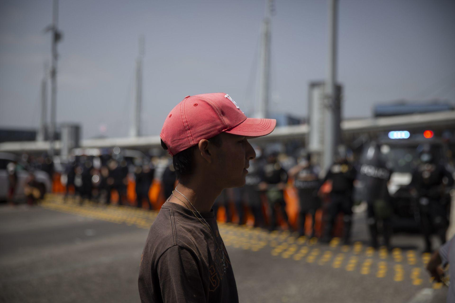Migrantes exigieron asilo político/Foto: cuartoscuro