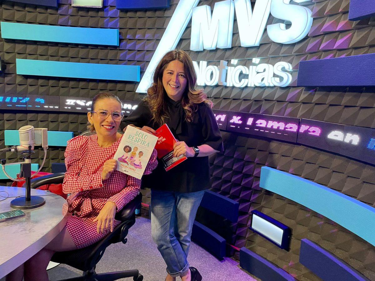 Norma Bautista con Ingrid y Tamara en MVS 102.5