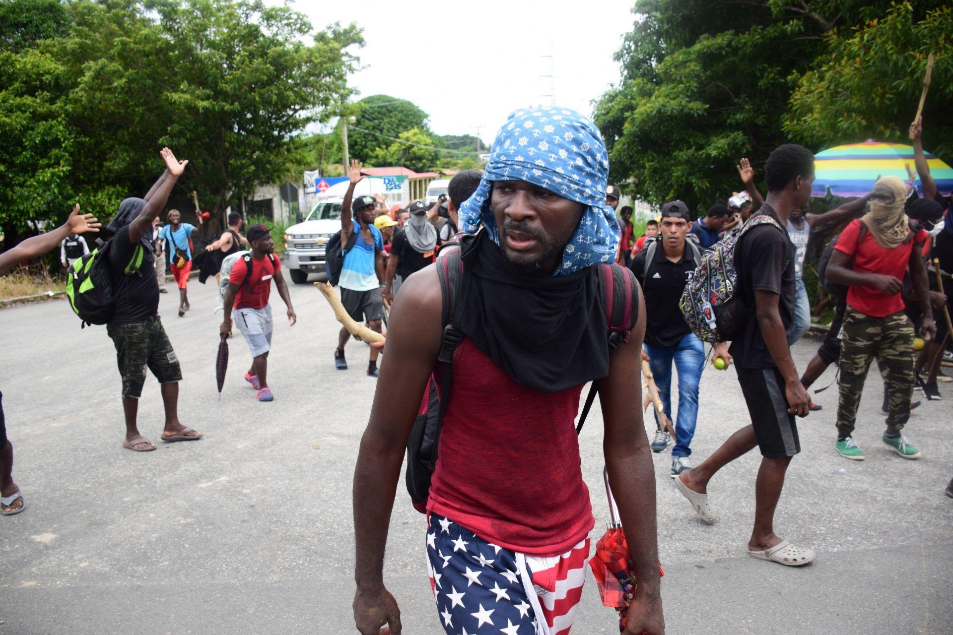 Migrantes haitianos /Foto: cuartoscuro