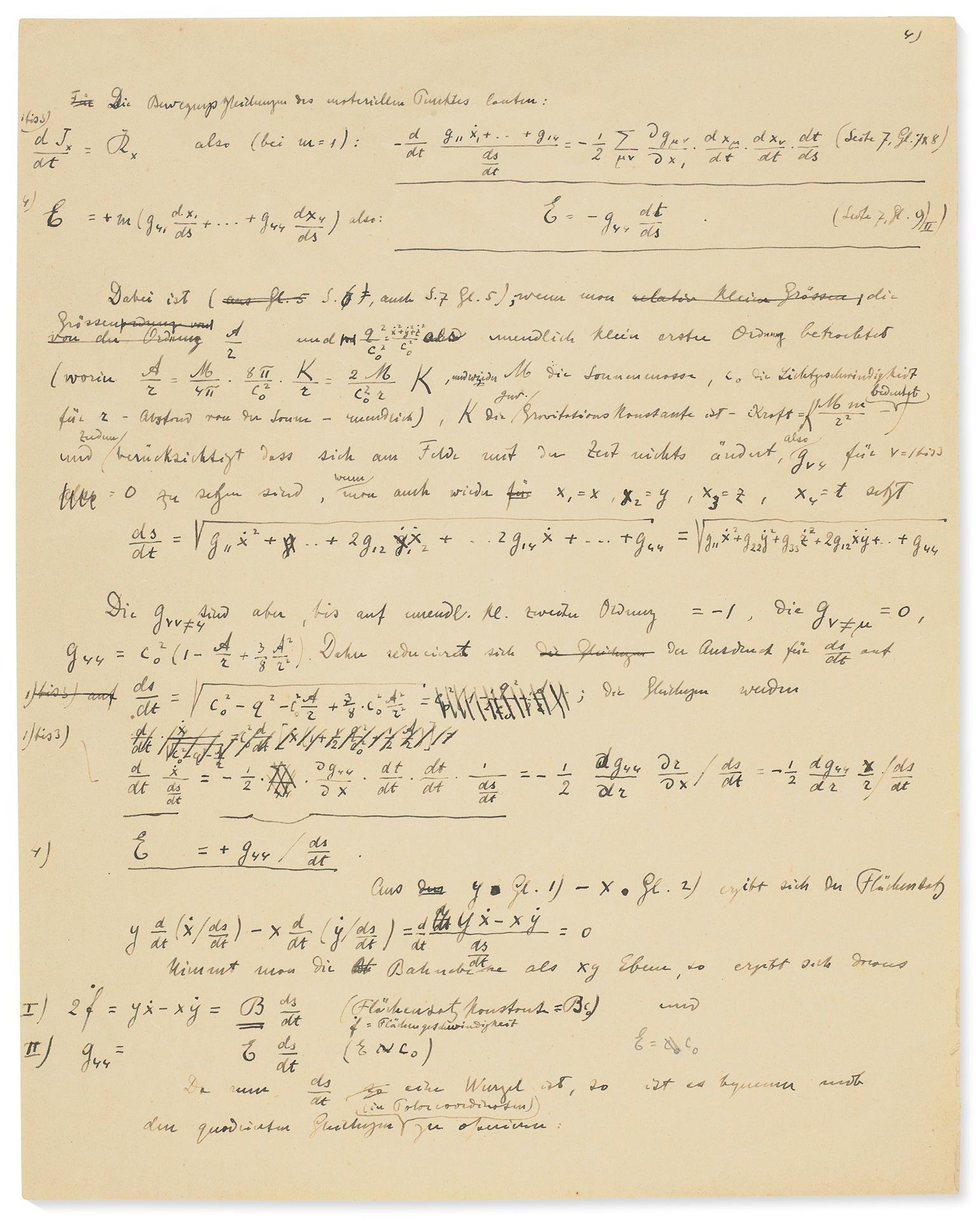 Manuscrito Einstein/Foto: EFE