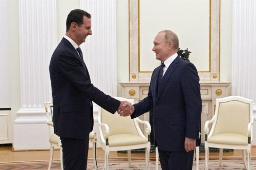 Reunión de Vladimir Putin con Bashar Al Ásad