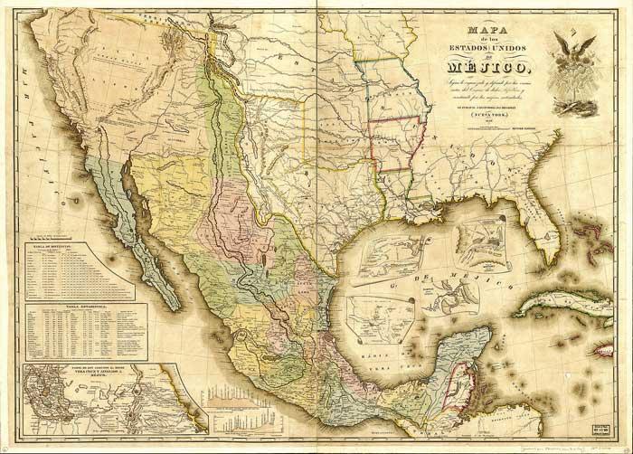 Mapa / El Tratado Guadalupe Hidalgo / Ilustración / Twitter @INEHRM
