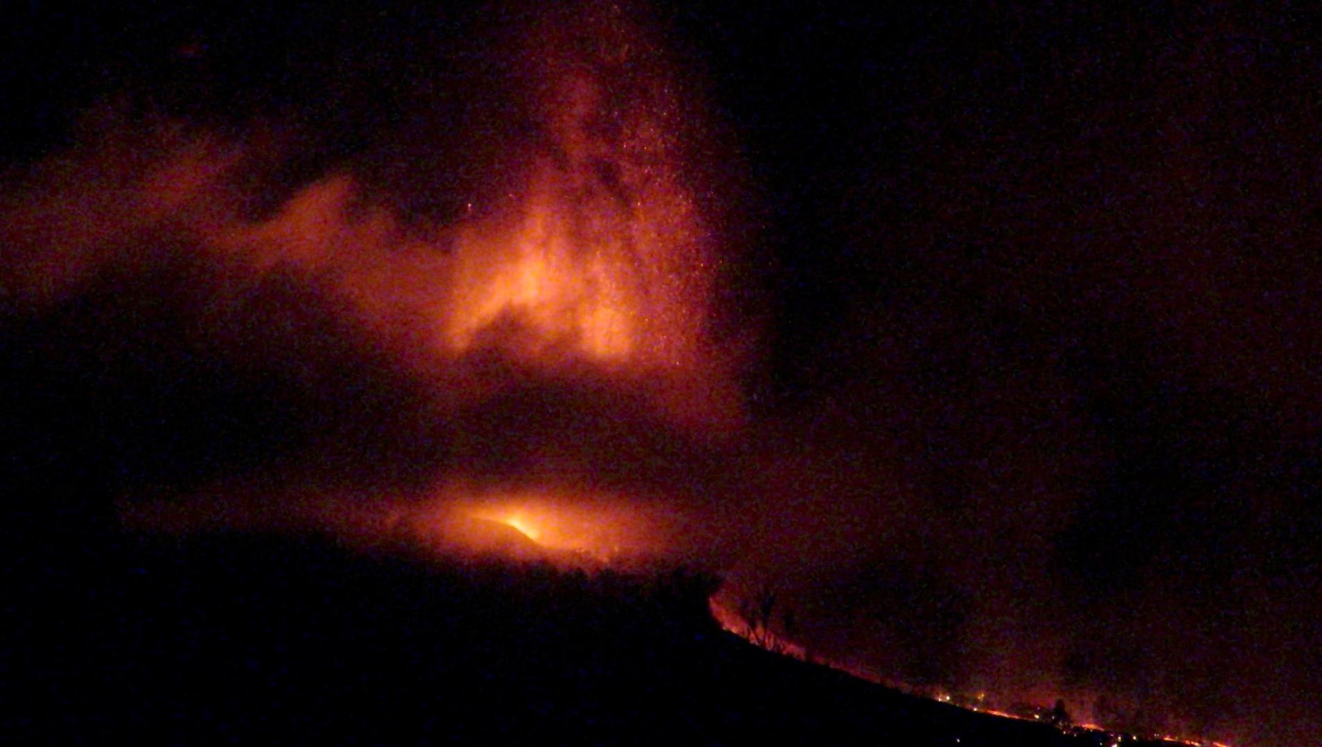 Erupción volcánica en la isla de La Palma/Foto:Reuters