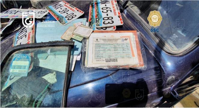El inmueble con las autopartes fue asegurado y quedó bajo resguardo/Foto: FGJ