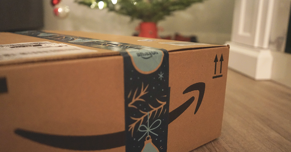 Amazon holiday package under the Xmas tree