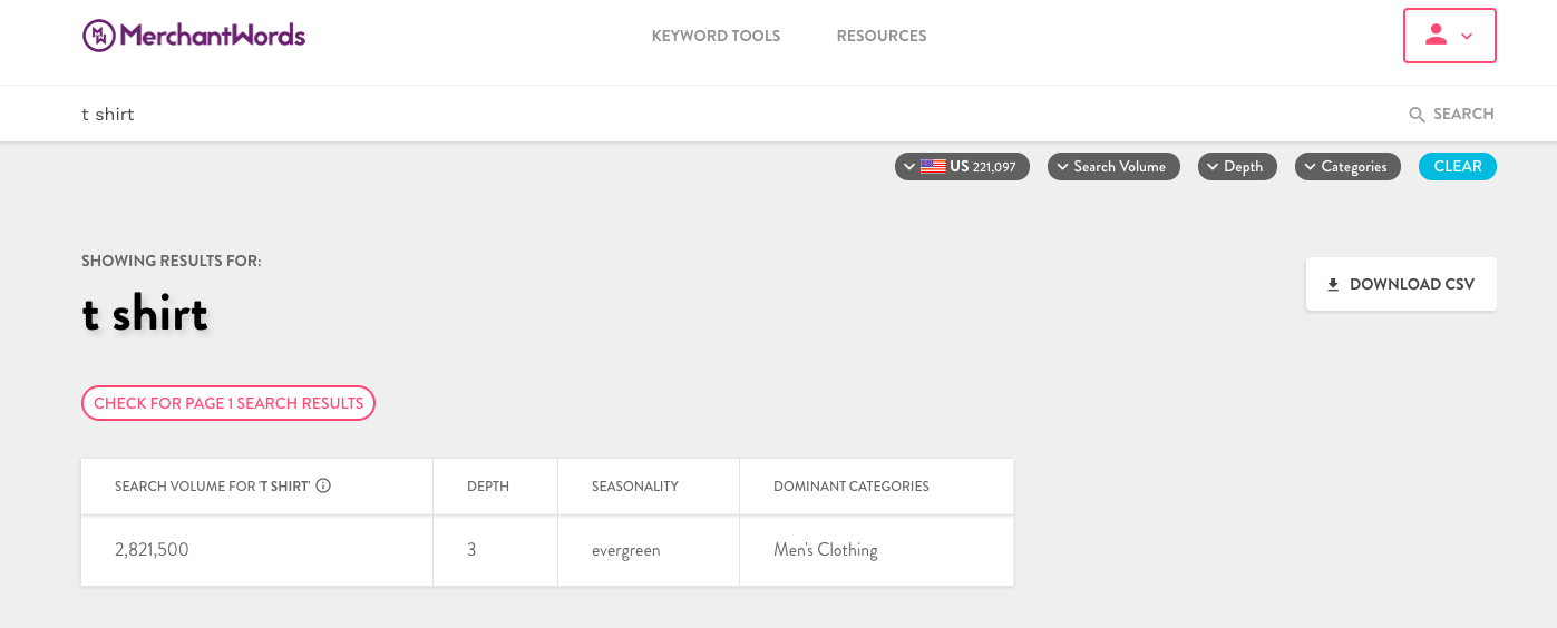 merchantwords keyword research for amazon products