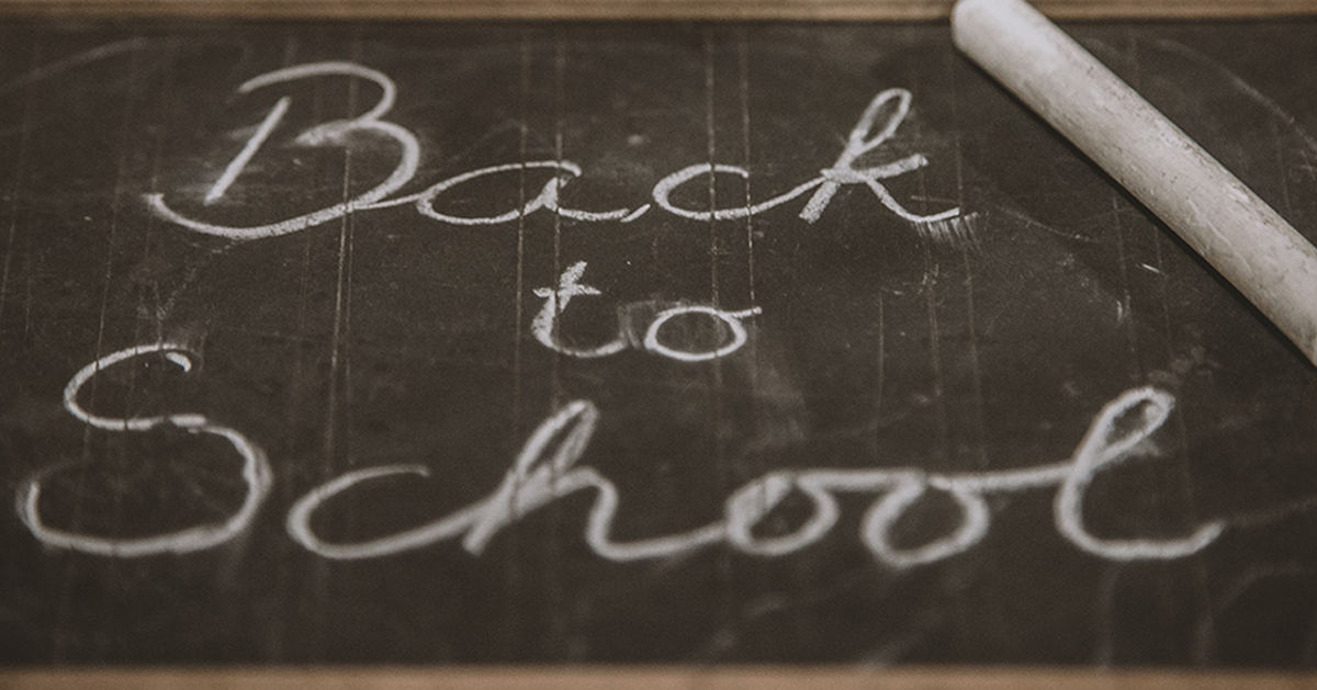 Black chalk board with