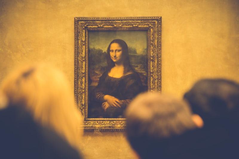 """Van Gogh """"Mona Lisa"""" painting being viewed"""