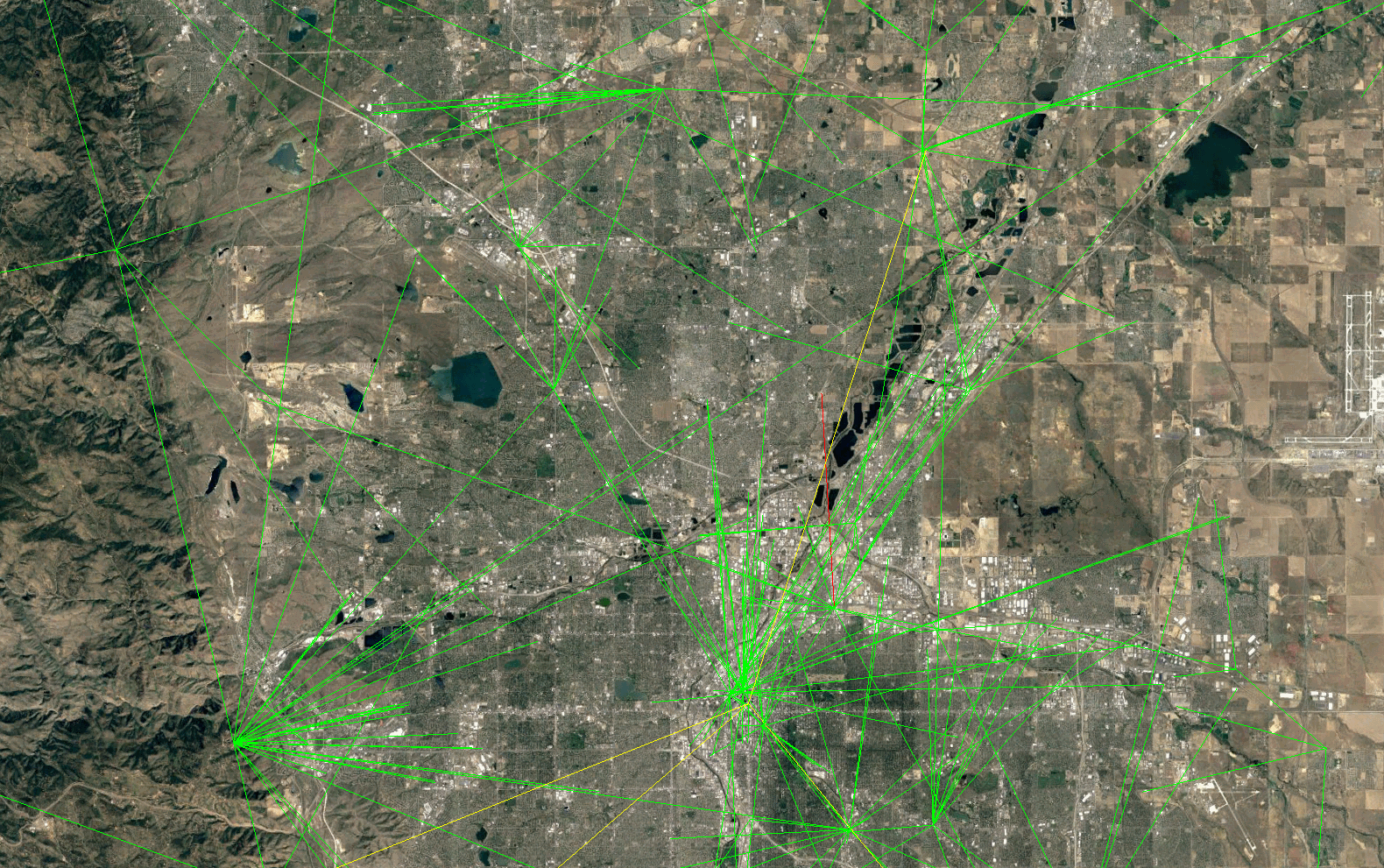 Screenshot showing a network in Colorado
