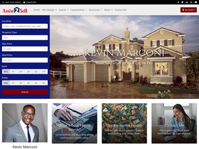 Assist 2 Sell website design two