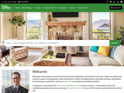 Better Homes and Gardens website design one