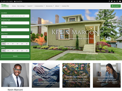 Better Homes and Gardens website design two