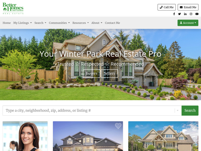 Better Homes and Gardens website design three