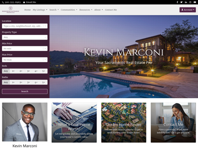 Berkshire Hathaway HomeServices website design two
