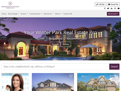 Berkshire Hathaway HomeServices website design three