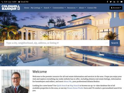 Coldwell Banker website design one