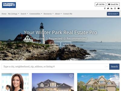 Coldwell Banker website design three