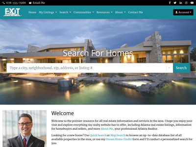 Exit Realty website design one