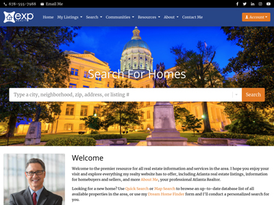 EXP Realty website design one