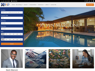 EXP Realty website design two