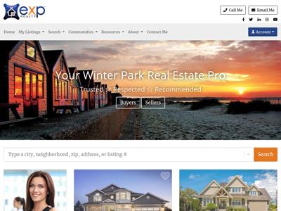 EXP Realty website design three