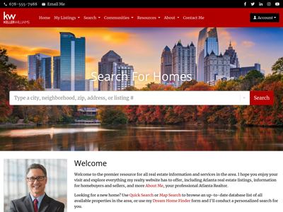 Keller Williams website design one