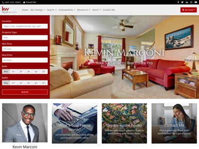 Keller Williams website design two