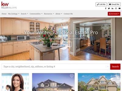 Keller Williams website design three
