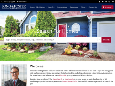 Long and Foster website design one