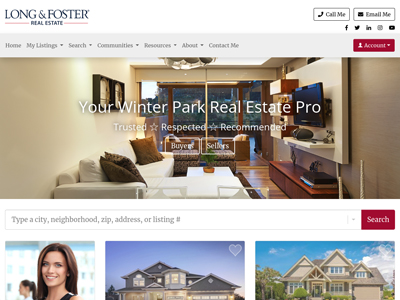 Long and Foster website design three